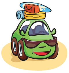 Traveling Car Cartoon vector image vector image