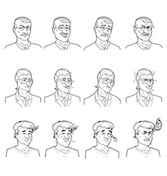 Business Emotions Avatars Set vector image vector image