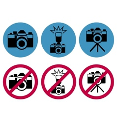 camera round icons vector image vector image