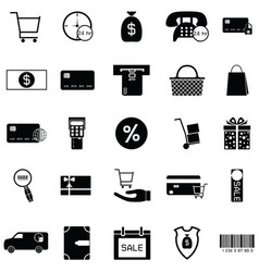 e-shopping icon set vector image