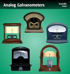 galvanometer icon set vector image vector image