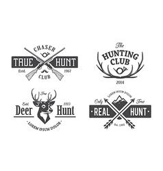 Hunt Emblems 1 vector image vector image