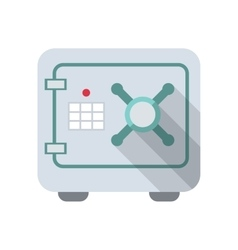 Safe icon with code lock isolated flat design vector image vector image