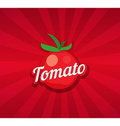 Tomato on Red Background vector image vector image
