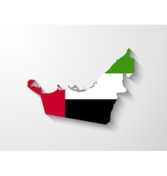 United arab emirates map with shadow effect vector