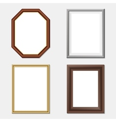 wooden frame set vector image