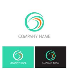 abstract round swirl logo vector image