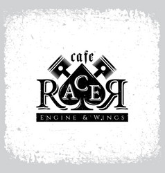 cafe racer vector image