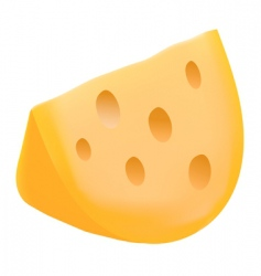 cheese with holes vector image vector image