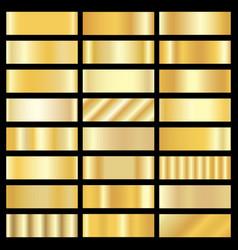 set of gold gradients vector image