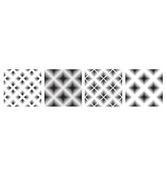 abstract ornamental line seamless pattern set vector image