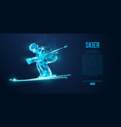 Abstract silhouette a skier jumping ski vector