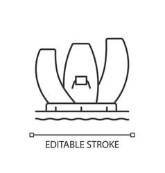 Artscience museum linear icon vector