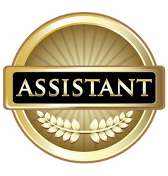 Assistant Gold Label vector image