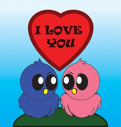 Birds i love you vector image