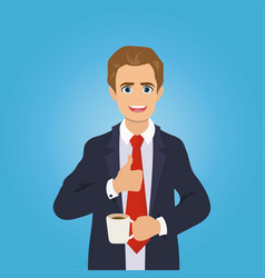 businessman gives the thumbs up vector image