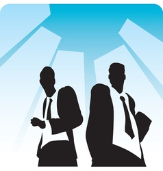 Businessmen on avenue vector image