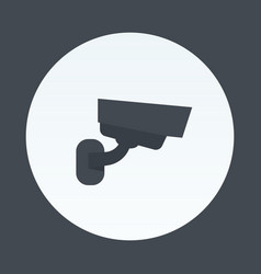 cctv camera icon isolated on white vector image