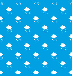 Cloud with hail pattern seamless blue vector