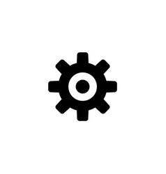 cog settings flat icon vector image