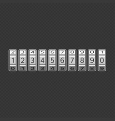 Combination lock set vector