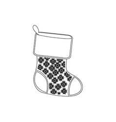 contour christmas boots icon vector image
