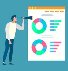 data analysis diagram report business vector image