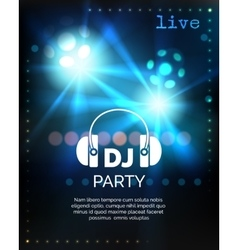 Dj party poster template vector