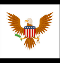 eagle american national mascot animal color banner vector image