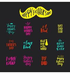 Fathers Day Lettering vector