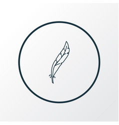 Feather icon line symbol premium quality isolated vector