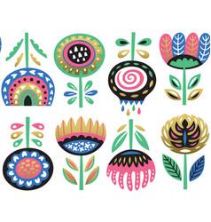 Flower art print in scandinavian vector