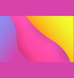 fluid shapes color geometric background modern vector image