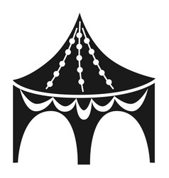 Gazebo tent icon simple style vector