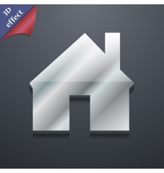 Home icon symbol 3D style Trendy modern design vector image