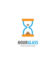 hour glass logo for business company simple hour vector image