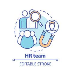Hr team concept icon employment service vector