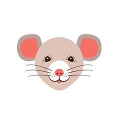 icon rat cute muzzle mouse cartoon rat head vector image