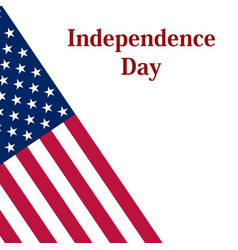 independence day in the united states of america vector image