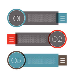 Infographic arrows with 3 step up options vector