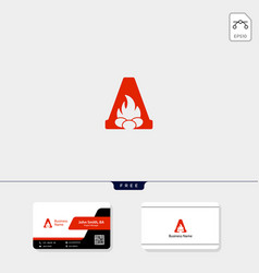 Initial a logo template and logo inspiration free vector