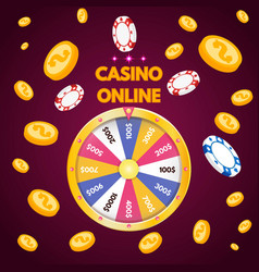 internet casino spinning fortune wheel vector image