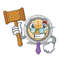 Judge buchimgae is fried in character pan vector