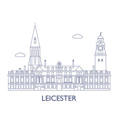 leicester vector image