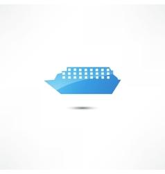 Marine ship icon vector image