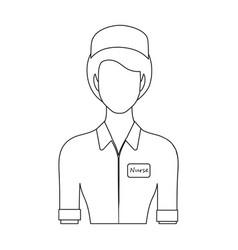 Medical staff in the hospital medicine single vector