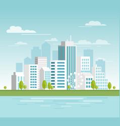 modern urban cityscape vector image