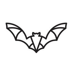 monoline bat logo vector image