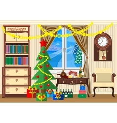 new year room vector image vector image