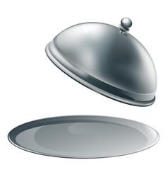 Open silver platter vector